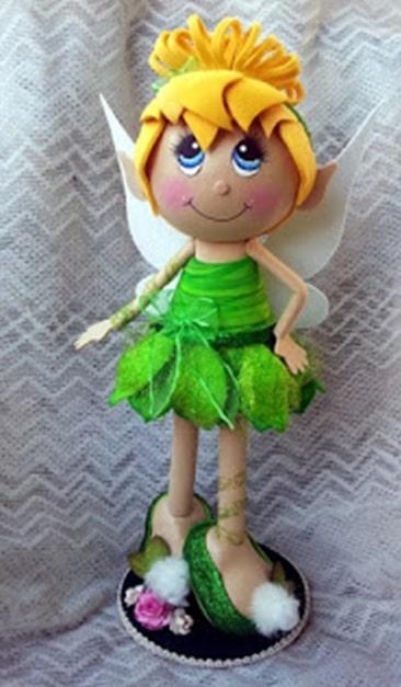 Como hacer muñeca fofucha Campanita