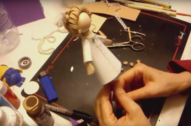 Video como hacer fofulapiz de novia