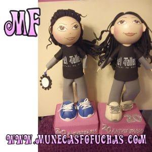 Muñeca Fofucha personalizada Aniversario Baile 2