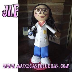 Muñeca Fofucha personalizada Enfermera 2