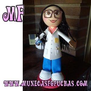 Muñeca Fofucha personalizada Enfermera 3