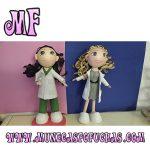 Muñeca Fofucha personalizada dos enfermeras