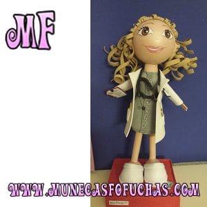 Muñeca Fofucha personalizada enfermera gris