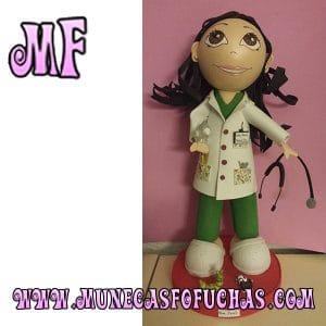Muñeca Fofucha personalizada enfermera verde