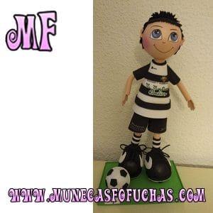 Muñeca Fofucha personalizada futbol y balon