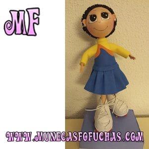 Muñeca Fofucha personalizada patines 1