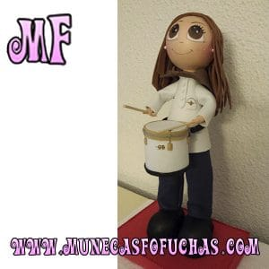 Muñeca Fofucha personalizada tambor 1