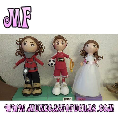 Muñeca Fofucha personalizada tres fofuchas