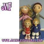Muñeca Fofucha personalizada familia 4