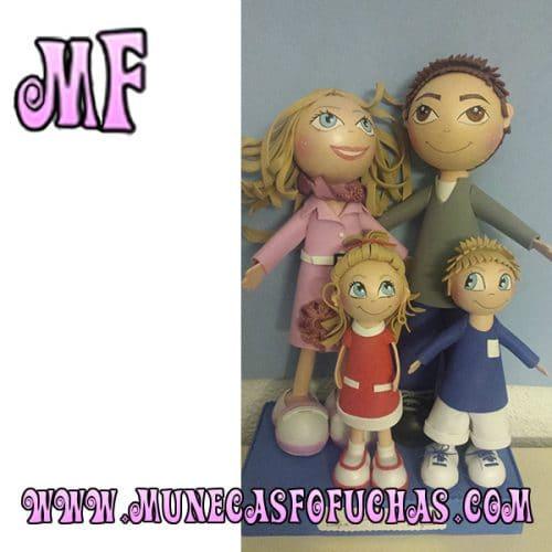 Muñeca Fofucha personalizada familia 5