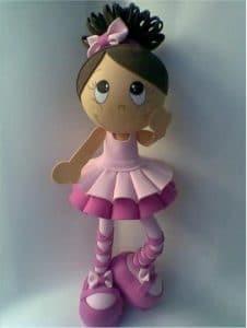 Como hacer muñeca fofucha bailarina