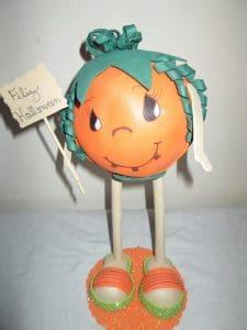 Como hacer fofucha calabaza Halloween