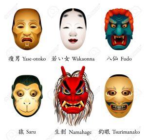mascaras japonesas en muñecas fofuchas